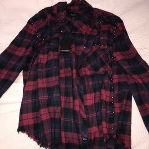 Rails studded flannel